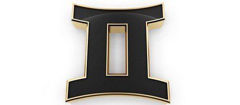 Representación del signo del zodiaco géminis