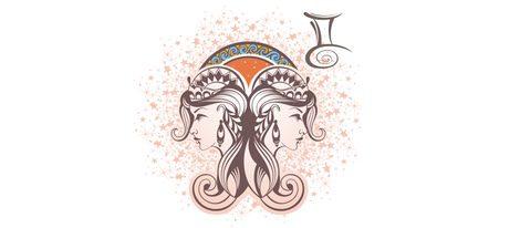 Representación signo zodiacal Géminis
