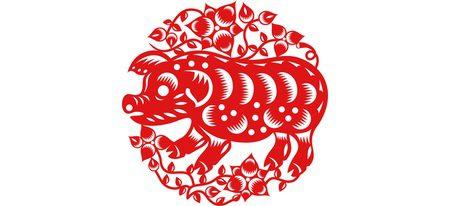 Representación signo zodiacal chino Cerdo