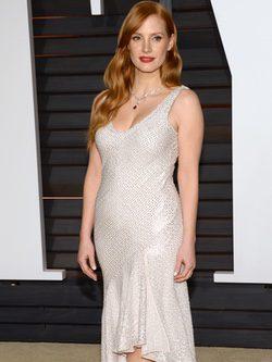 Jessica Chastain en la fiesta Vanity Fair tras los Oscar 2015