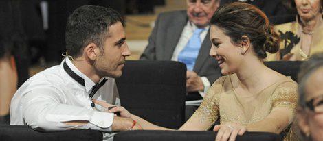 Blanca Suárez y Miguel Ángel Silvestre en la gala de los Goya 2012