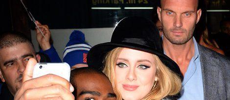 Adele y su guardaespaldas Peter van der Veen en Nueva York
