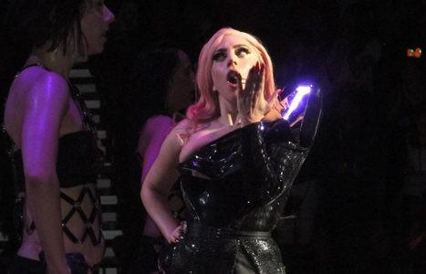 Lady Gaga durante una actuación