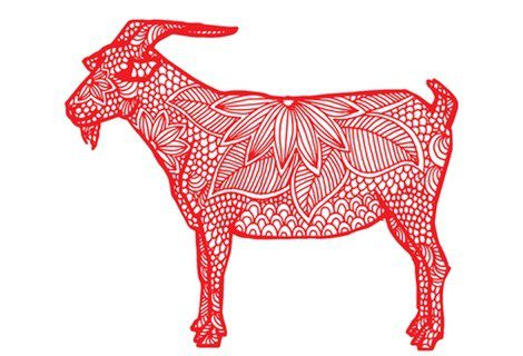 Representación de la cabra del horóscopo chino