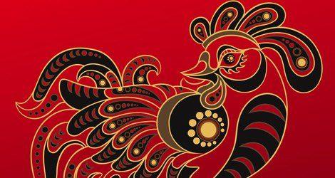 Representación del horóscopo chino del Gallo