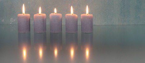 Las velas acompañan el momento de relajación y autocrítica para buscar la respuesta interior del problema