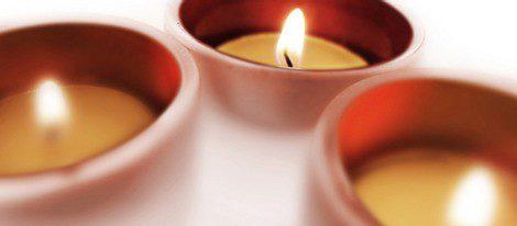 Las velas violeta ayudan a meditar