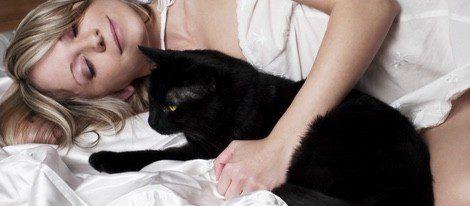 Estar en contacto con el gato, acariciarlo y mirarlo a los ojos antes de dormir protege del mal sueño o pesadillas