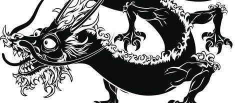 Representación del Dragón típico del horóscopo chino