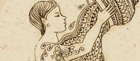 Representación del zodiaco Acuario