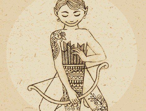 Representación del signo del zodiaco Sagitario