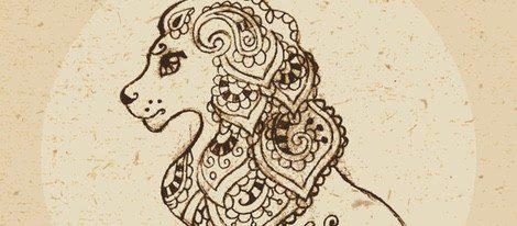 Representación del zodiaco Leo