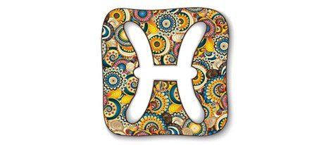 Representación del signo del zodiaco de Piscis