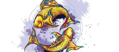 Representación signo zodiacal piscis