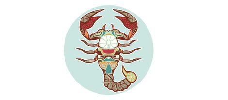 Representación signo zodiacal Escorpio