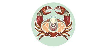 Representación signo zodiacal Cáncer