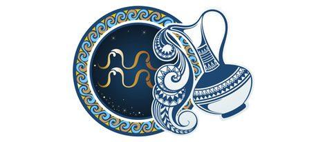 Representación signo zodiacal Acuario