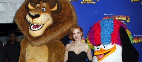 Jessica Chastain en el estreno de 'Madagascar 3' en Nueva York