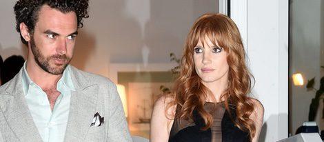 Jessica Chastain y Gian Luca Passi De Preposulo en Ischia