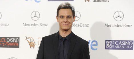 Christian Gálvez en la entrega de los Premios Iris 2014