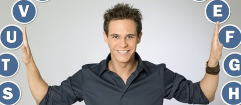 Christian Gálvez con el rosco de 'Pasapalabra'